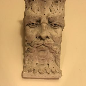 GREEK ZEUS DECOR WALL HANGING FACES , ANTIQUES , GREAT DETAIL , CREEPY PIERCING EYES , AWESOME PIECES , $250 CASH OB0 FOR PAIR for Sale in Quakertown, PA