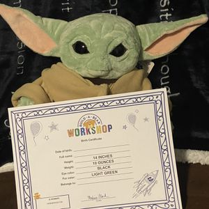 Baby Yoda Plush From Build A Bear for Sale in Tolleson, AZ