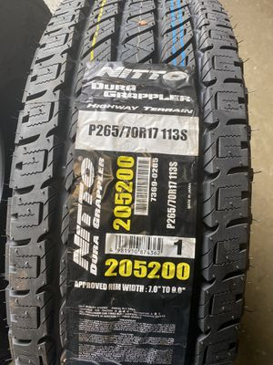 Nitto Dura Grappler 265/70r17 New Tires. set of 2 for Sale in Bristow, VA
