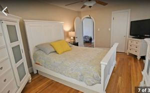 All white bedroom set. Queen bed, headboard/frame, 2dressers , nightstand, and mirror for Sale in Pawtucket, RI