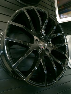 "Giovanna kilis glos black 20"" staggered wheels fit jaguar Mercedes BMW audi 20x8.5 and 20x10 rims for Sale in Tempe, AZ"