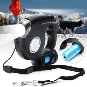 4.5M LED Flashlight Extendable Retractable Pet Dog Leash Lead with Garbage Bag for Sale in Bethesda, MD