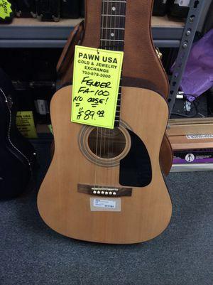 Fender FA-100 Acoustic Guitar no case for Sale in Woodbridge, VA