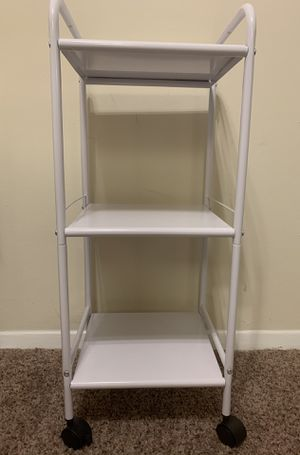 3 Shelf Utility Storage Cart White for Sale in Greenbelt, MD