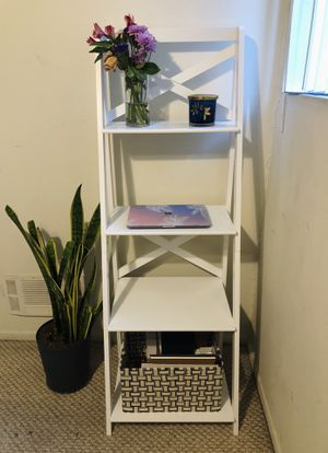 Tangkula 4-Tier White Ladder Shelf for Sale in Los Angeles, CA