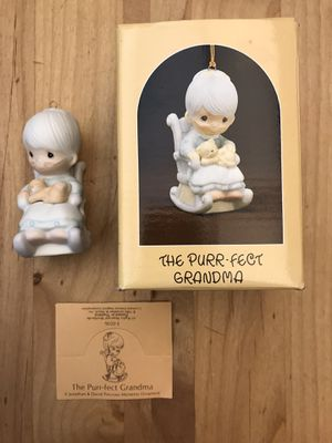 1983 Precious Moments Ornament The Purr-Fect Grandma for Sale in Hillsboro, OR