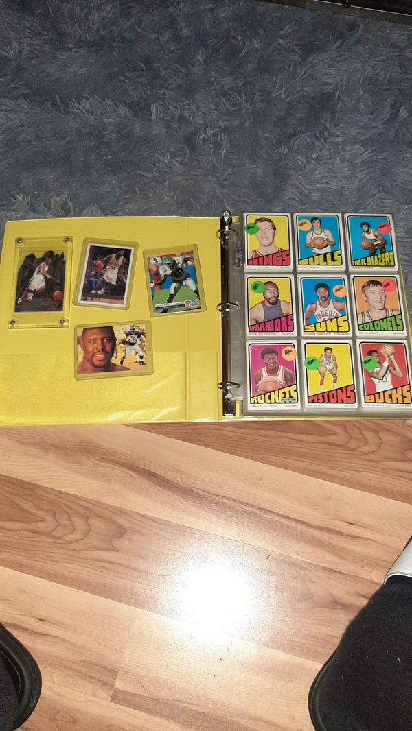 Multiple old school basketball football cards