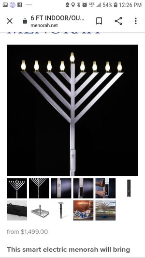 Menorah digital timer 6 foot tall for Sale in Independence, MO