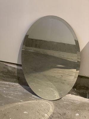 Small Frameless Beveled Oval Wall MirrorBathroom, for Sale in Ashburn, VA
