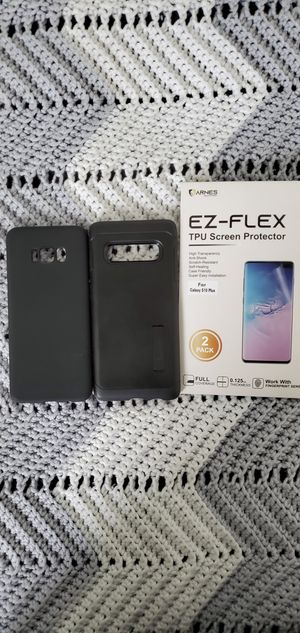 Samsung Galaxy S10+ Box 2 Cases and Screen Protector for Sale in Belle Isle, FL