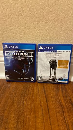 Star Wars BattleFront 1 & 2 PS4 for Sale in Temecula, CA