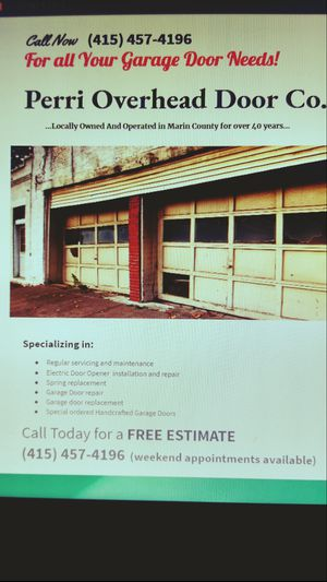 Garage door service repair for Sale in San Rafael, CA