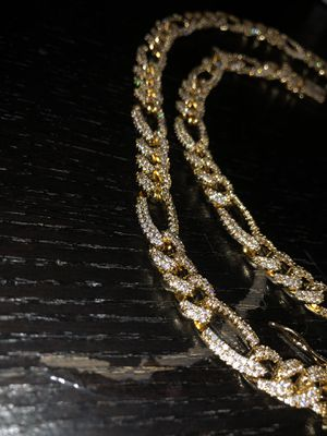 Gold Plated Iced chain *barely worn* (cubic zirconia stones) for Sale in Westerville, OH