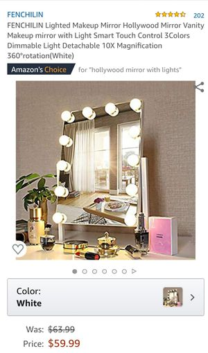 Lighted Makeup Vanity Mirror for Sale in San Bernardino, CA