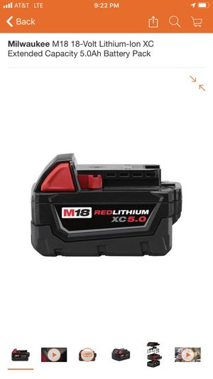 Milwaukee XC5.0 Battery for Sale in San Jose, CA