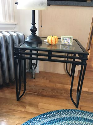 End table (glass and metal) for Sale in Cambridge, MA