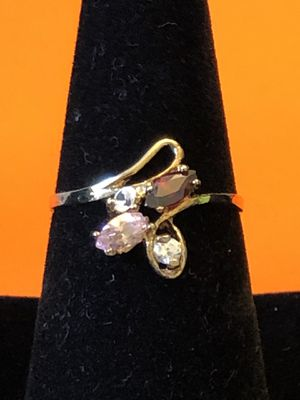 14k Gemstone gold ring,pink,red,white stone, 1.98grams, size8, please look at all pictures for more details for Sale in Aurora, IL