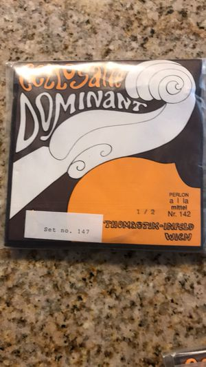 Cello strings (NEW) Dominant brand, 1/2 and 3/4 sizes. COMPLETE SET! for Sale in Apex, NC