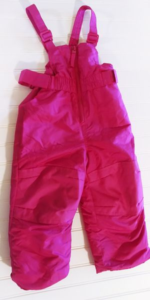 Bright pink toddler girls size 2T girls snowsuit bib overall pants for Sale in Tacoma, WA
