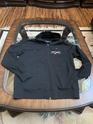 e9bd58cac42ef4 Nike air Jordan flight full zip Men sz xl hoodie sweatshirt black NWT for  Sale in