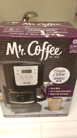 New Mr. Coffee Advanced Brew 5 Cup Programmable Coffee Maker for Sale in Irvine, CA