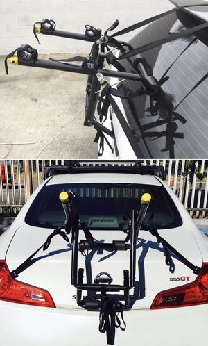 New in box 2 bikes hatch or trunk mount bicycle bike rack road mountain bike carrier car wagon or suv for Sale in Whittier, CA
