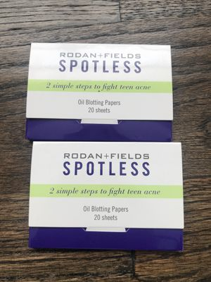 2 Rodan+ Fields spotless oil blotting paper for Sale in Plano, TX