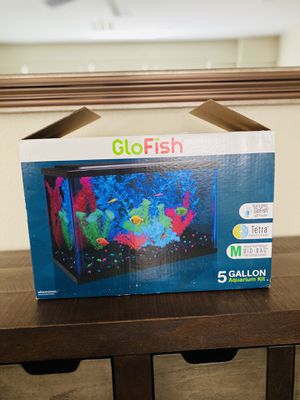 New open box glow fish aquarium 5 gallon for Sale in Las Vegas, NV