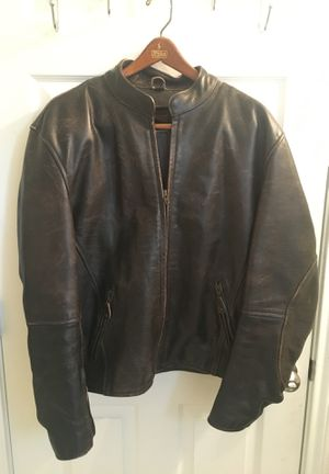 Brown Leather Motorcycle Jacket for Sale in Manor, TX