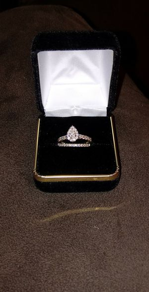 Engagement and wedding ring 1 karat for Sale in Saint Charles, MD