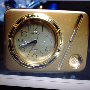 Seiko battery clock, easy to set, alarm you will not sleep through, works great, small size easily tucks into a carry on for Sale in Poulsbo, WA