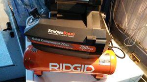 Ridgid quiet air compressor 200psi for Sale in Medford, MA