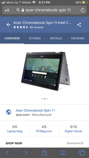 Acer Chromebook Spin 11 for Sale in Red Oak, TX