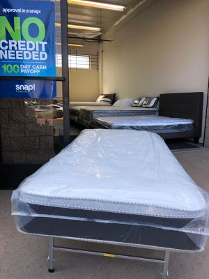 TWIN SIZE ORTHOPEDIC EURO PILLOW-TOP BED BRAND NEW SUPER COMFY MATTRESS ONLY $125 for Sale in El Cajon, CA