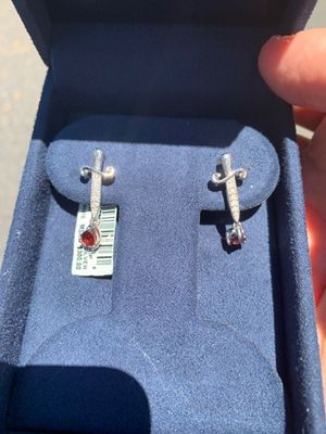 Silver / diamond Snow White earrings for Sale in Mesa, AZ