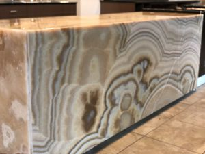 Honey onyx stone sales counter for Sale in Seattle, WA