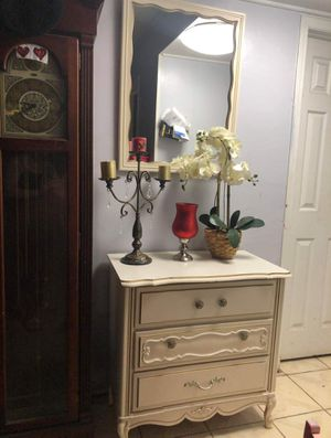 French provincial tall dresser with mirror set for Sale in Pomona, CA