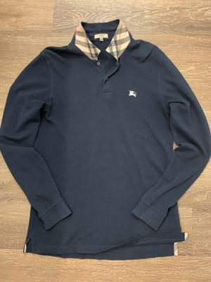 BURBERRY London Men's Long Sleeve Classic Navy Polo Shirt - Pop your collar! for Sale in San Diego, CA