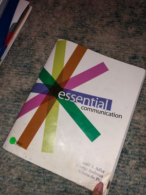 Essential Communication Ronald B Adler for Sale in Auburn, WA