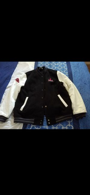 Jordan jacket leather size large for Sale in Tracy, CA