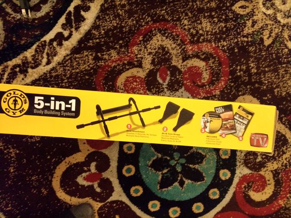 5 in 1 exercise bar like new