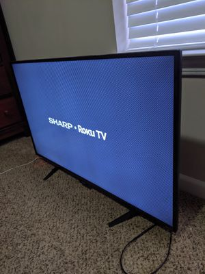 Sharp 43 Inch Roku Smart TV $140 OBO for Sale in Naperville, IL