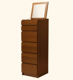 Malm 6-Drawer Chest W/Mirror for Sale in Seattle, WA