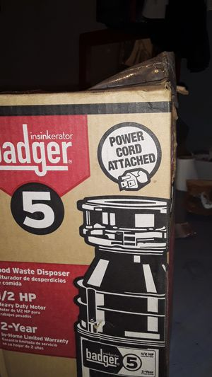 Garbage disposal badger 5 for Sale in San Diego, CA