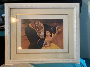 Framed Disney Beauty and the Beast Print for Sale in Tampa, FL
