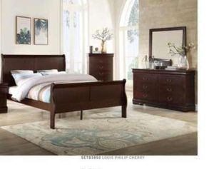BRAND NEW TWIN FULL QUEEN BEDROOM SET INCLUDES BED FRAME DRESSER MIRROR AND NIGHTSTAND ADD MATTRESS ALL NEW FURNITURE BY USA MEXICO FURNITURE ... J2 for Sale in Ontario, CA