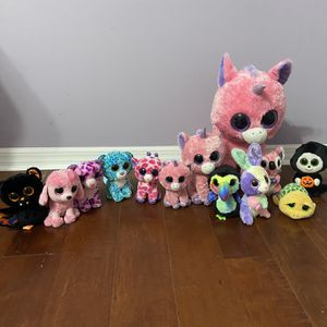 13 Beanie Boos Animal Plushy Collection for Sale in Fort Lauderdale, FL