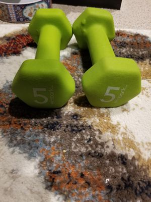 5 pound lb weights dumbells set of 2 neoprene for Sale in Palos Hills, IL