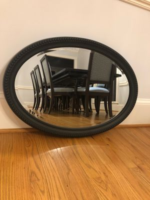 Oval black frame mirror for Sale in West McLean, VA