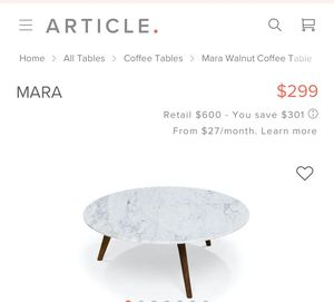 Article Furniture coffee table for Sale in Corona, CA